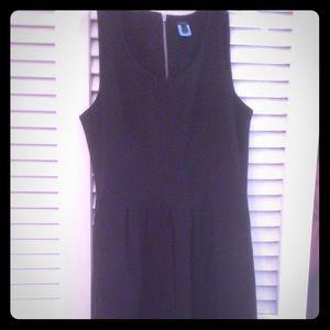 Black sleeveless dress from J Crew.